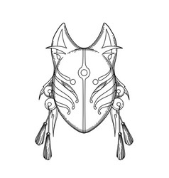 graphic demon fox mask vector image