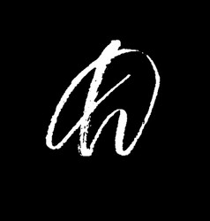 letter d handwritten by dry brush rough strokes vector image
