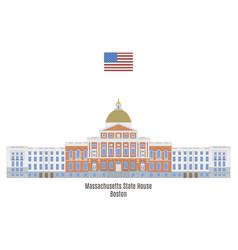 massachusetts state house vector image
