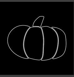 pumpkin white color icon vector image