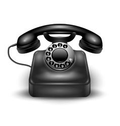 Realistic Retro Telephone vector image vector image