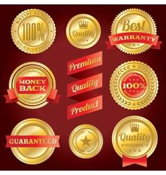 Satisfaction Guarantee Warranty Badges and Labels vector image