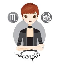 Woman With Scorpio Zodiac Sign vector image vector image