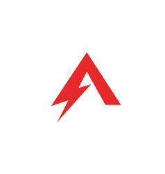 a letter lightning logo vector image