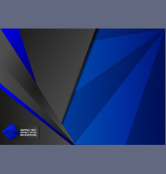 abstract geometric blue and black color vector image