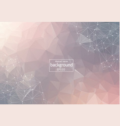 abstract pastel polygonal space background with vector image
