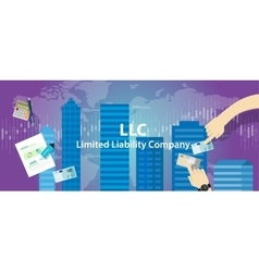 Acronym LLC as limited liability company vector