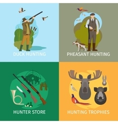 Animals hunting concepts vector image