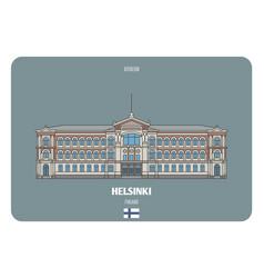 Ateneum in helsinki finland vector