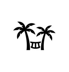 Beach hammock icon vector