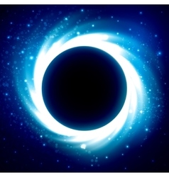 Black Hole in Outer Space Distant Galaxy vector