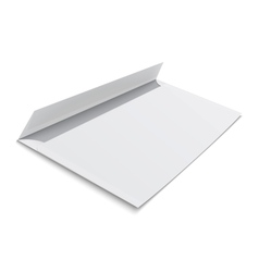 Blank envelope on white background vector image