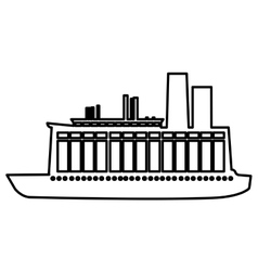 Boat or ship pictogram icon image vector