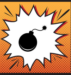 bomb sign comics style icon vector image