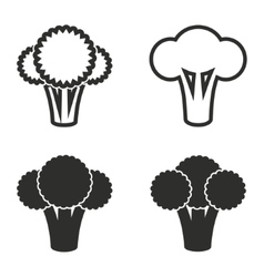 Broccoli icon set vector image