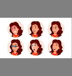 business avatar woman human emotions vector image