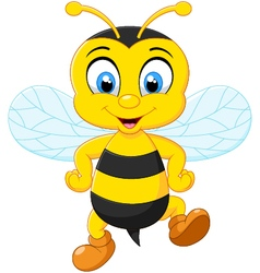 Cartoon adorable bees vector