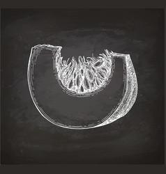Chalk sketch of pumpkin piece vector