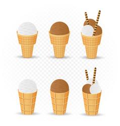 Chocolate and classic ice cream vector