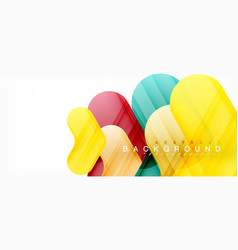 colorful glossy arrows abstract background vector image