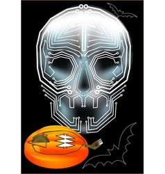 computerized halloween vector image