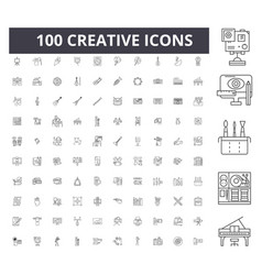 creative line icons signs set outline vector image