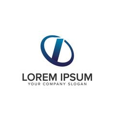 creative modern letter i logo design concept vector image