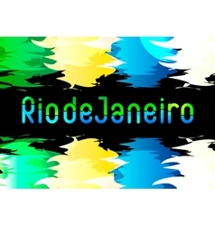 Design for brazilian invitation felicitation vector image