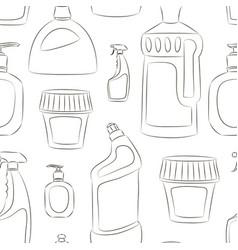 detergent bottles collection pattern vector image
