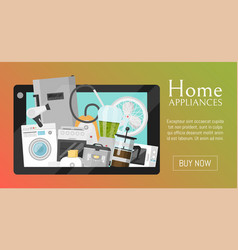 electronic household appliances banner vector image