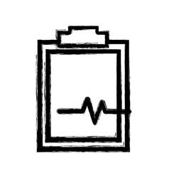 Figure medical prescription and check list element vector