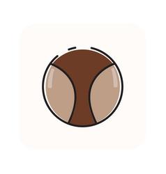 Flat color ball icon vector