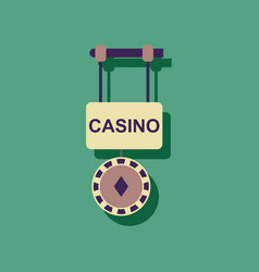 Flat icon design collection casino street banner vector