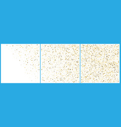 gold polka dot confetti celebrations simple vector image