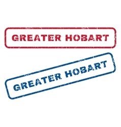 Greater Hobart Rubber Stamps vector image