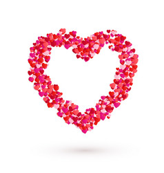 heart frame romantic decoration element for vector image