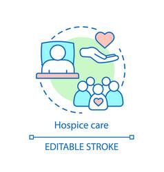 Hospice care concept icon vector