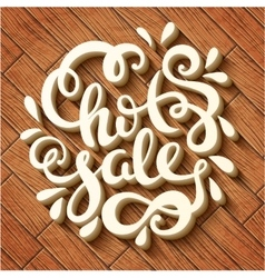 Hot sale hand drawn lettering vector image