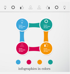 Information graphics booth circles lines vector