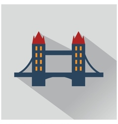 Isolated bridges big icons set vector