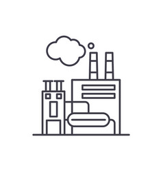 manufacturing facility line icon concept vector image