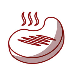 Meat beef isolated icon vector