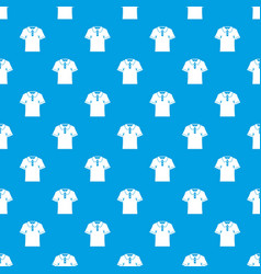 men polo shirt pattern seamless blue vector image