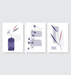 minimal flower in vase summer plant branch vector image