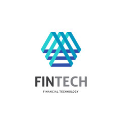 modern logo concept design for fintech vector image