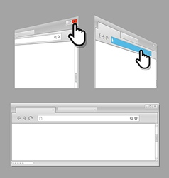 Modern web browser template vector image