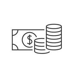 Money outline icon vector