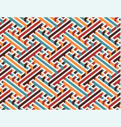 multicolor geometric maze seamless pattern vector image