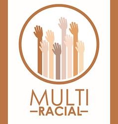 Multiracial design vector image
