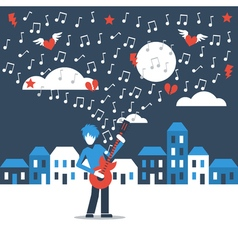 Music street performance vector